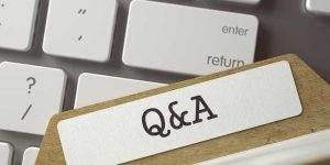 file folder tab that reads Q&A,, for Questions and Answers