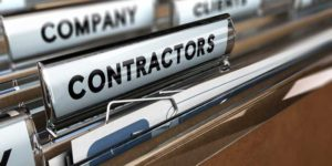 file folder with the word Contractors